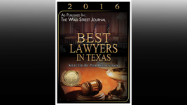 Best Lawyers in Texas 2016
